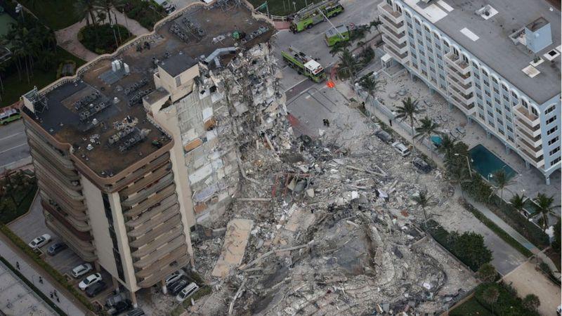Derrumbe de un edificio en Miami