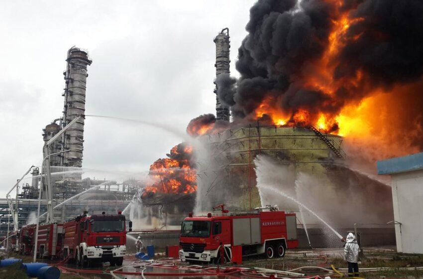 Explosión de una planta química en Alemania