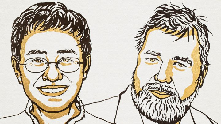 Periodistas obtienen el Premio Nobel de la Paz y avalan la libertad de expresión
