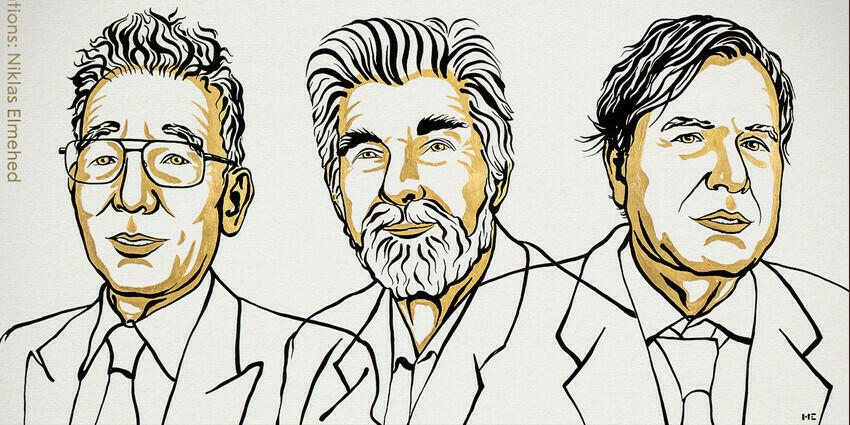 El premio Nobel de la física y los tres científicos ganadores